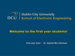 Welcome to the first year students!