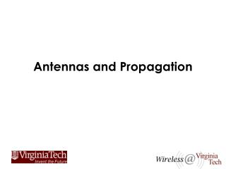 Antennas and Propagation