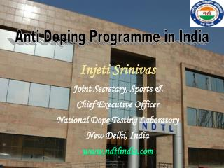 Anti Doping Programme in India
