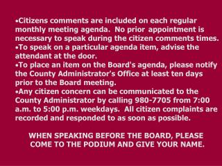 BOARD AGENDA     		      Regular Meeting PULASKI COUNTY	                July 24, 2006