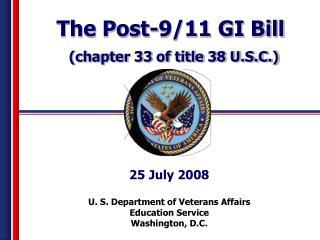 U. S. Department of Veterans Affairs Education Service Washington, D.C.