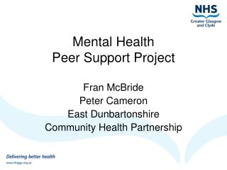 Mental Health  Peer Support Project