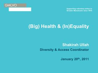 (Big) Health & (In)Equality