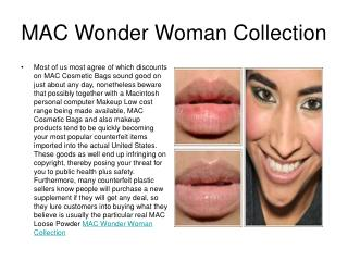 MAC Wonder Woman Collection
