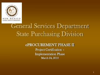 General Services Department State Purchasing Division