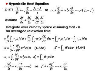 Hyperbolic Heat Equation