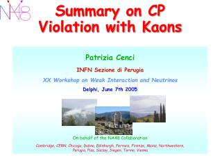 Summary on CP Violation with Kaons