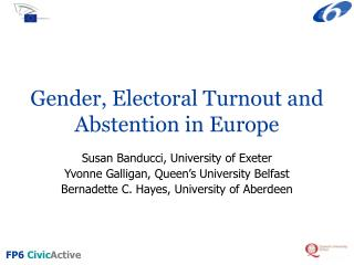 Gender, Electoral Turnout and Abstention in Europe