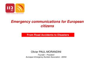 Emergency communications for European citizens