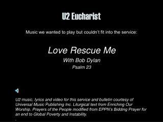 U2 Eucharist