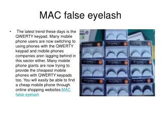 MAC false eyelash