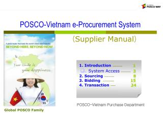 POSCO-Vietnam e-Procurement System ( Supplier Manual )