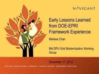 Early Lessons Learned from DOE-EPRI Framework Experience