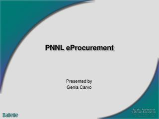 PNNL eProcurement