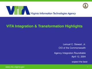 VITA Integration & Transformation Highlights