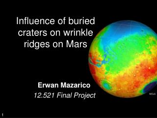 Influence of buried craters on wrinkle ridges on Mars