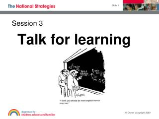 Talk for learning