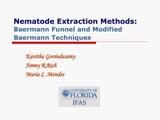 Nematode Extraction Methods: Baermann Funnel and Modified Baermann Techniques