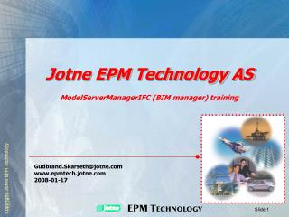 Jotne EPM Technology AS
