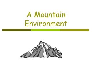 A Mountain Environment