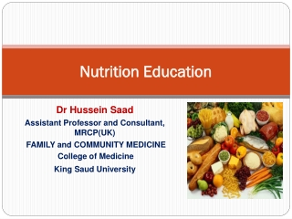 How to Change  Behaviors through  Nutrition Education