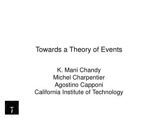 Towards a Theory of Events
