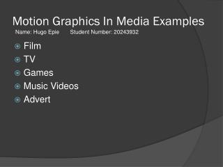 Motion Graphics In Media Examples