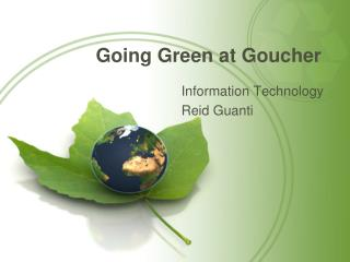 Going Green at Goucher