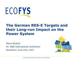 The German RES-E Targets  and their  Long- run  Impact on  the  Power System