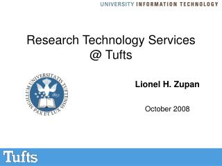 Research Technology Services  @ Tufts