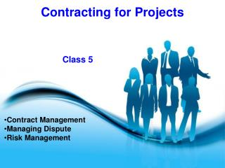 Contract Management Managing Dispute Risk Management