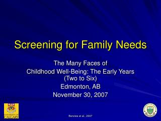 Screening for Family Needs