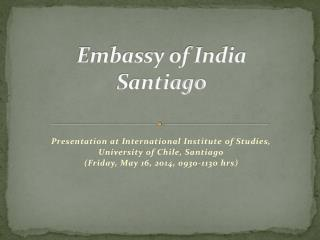 Embassy of India Santiago