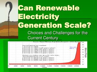 Can Renewable Electricity Generation Scale?