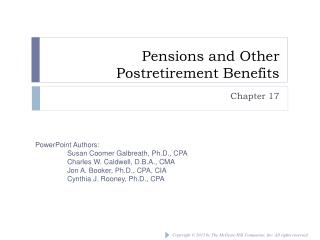 Pensions and Other Postretirement Benefits