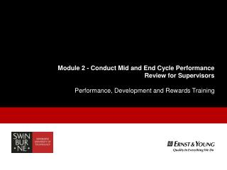 Module 2 -  Conduct Mid and End Cycle Performance Review for Supervisors