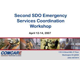 Second SDO Emergency Services Coordination Workshop