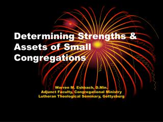 Determining Strengths & Assets of Small Congregations
