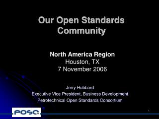 Our Open Standards Community
