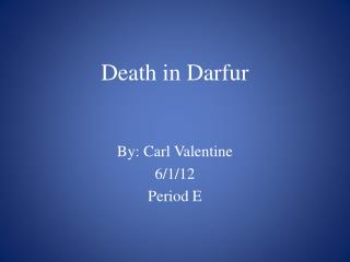 Death in Darfur