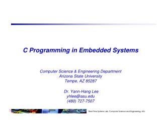 C Programming in Embedded Systems