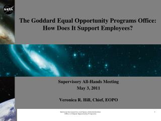 The Goddard Equal Opportunity Programs Office: How Does It Support Employees?