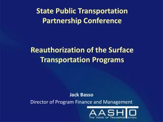 Jack Basso Director of Program Finance and Management
