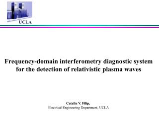 Frequency-domain interferometry diagnostic system for the detection of relativistic plasma waves