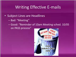 Writing Effective E-mails
