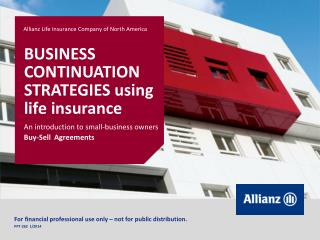 BUSINESS CONTINUATION STRATEGIES using life insurance