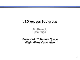 LEO Access Sub group Bo  Bejmuk Chairman