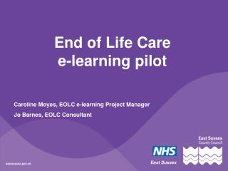 End of Life Care  e-learning pilot