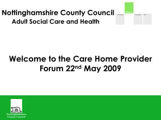 Nottinghamshire County Council Adult Social Care and Health