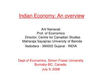 Indian Economy: An overview